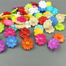DIY Resin Buttons Fit Sewing Scrapbook Crafts Mixed color Flowers buttons 17mm