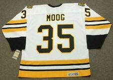 ANDY MOOG Boston Bruins 1990 CCM Vintage Throwback Home NHL Hockey Jersey