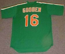 """DWIGHT GOODEN New York Mets 1985 Majestic """"St. Patty's Day"""" Throwback Jersey"""