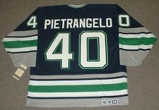 FRANK PIETRANGELO Hartford Whalers 1992 CCM Vintage Throwback NHL Hockey Jersey