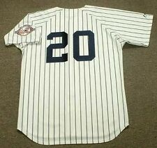 JORGE POSADA New York Yankees 2003 Majestic Cooperstown Home Baseball Jersey