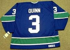 PAT QUINN Vancouver Canucks 1972 CCM Vintage Throwback NHL Hockey Jersey