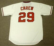 ROD CAREW California Angels 1982 Majestic Cooperstown Home Baseball Jersey