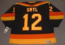 STAN SMYL Vancouver Canucks 1985 CCM Vintage Throwback Away NHL Hockey Jersey