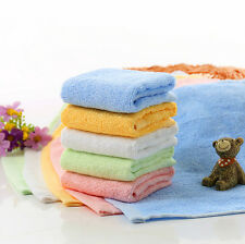 Small Square Soft Bamboo Fiber Hanky Towel Washcloth Hand Towel