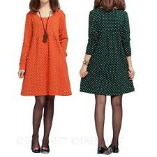 Tunic Blouse Cotton Blends Ladies Casual T Shirt Womens Long Sleeve Dress Size