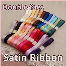 """3/8"""" 9mm Double face Wedding Gift Satin Ribbon Child Craft hairbow"""