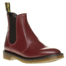 New Womens Dr. Martens Red 2976 Leather Boots Chelsea Pull On