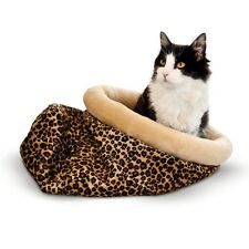 KH Mfg Self-Warming Kitty Sack Hide-n-Sneak Cat Pet Sack Bed Leopard