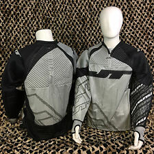 NEW JT FX 2.0 Padded Paintball Jersey - Black/Grey