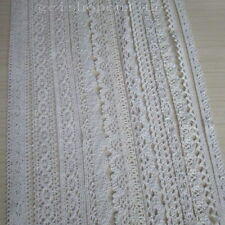 "10 Yards cotton crochet delicate lace Wewing 10mm 12mm 19mm 25mm 3/8"" 1/2"" 5/8"""