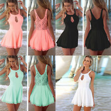 New Women Lady Halter Sling Sleeveless Lace Backless Slim Jumpsuit Rompers Gift