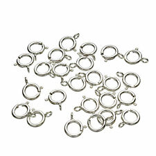 925 Sterling Silver Spring Ring 6mm Clasp clasps CLOSED
