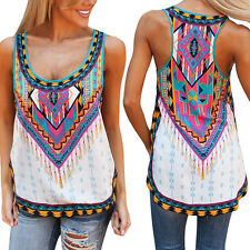 UK Sexy Ladies Womens Summer Vest Top Sleeveless Blouse Casual Tank Tops T-Shirt