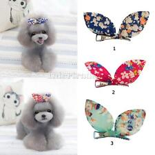 Cute Pet Dog Cat Puppy Bunny Flower Hairpin Hair Bows Tie Grooming Duck Clip