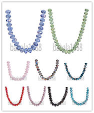8x6mm Faceted Glass Crystal Rondelle  Loose Spacer Beads 69 Colors Free Shipping