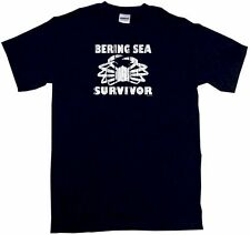 Bering Sea Survivor Distressed Logo Kids Tee Shirt Boys Girls Unisex 2T-XL