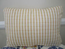 Gorgeous Pierre Deux Pillow Gold Pont Aven Plaid Check French Country Toile