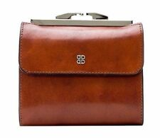 """Bosca Womens Old Leather 4"""" Framed French Purse Wallet 2234"""