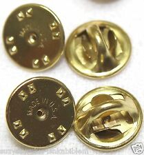 Brass clutch back pinback insignia badge guards lot of 4 to 1000 your pick