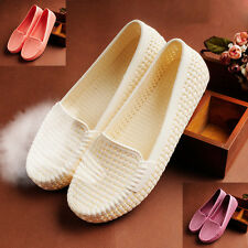 New Summer Women Lady Ventilate Flat shoes Comfy beach Loafers Sandals 3Color