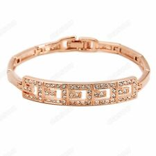 Top Quality 18k White/Rose Gold Plated Women Austrian Crystal Chain Bracelet