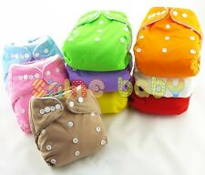 Lot Baby Infant Cloth Nappy One Size Pocket Reusable Diapers Covers Liner Insert
