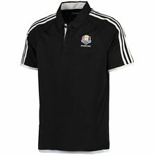adidas Black/White 2016 Ryder Cup 3-Stripe climachill Competition Polo