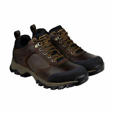 Timberland Mt. Maddsen Low Waterproof�Mens Brown Leather Hiking Boots Shoes