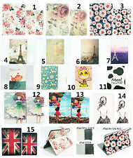 """Flower Tower Animal Girl Flip Leather Stand Case Smart Cover For iPad 7.9"""" 9.7"""""""