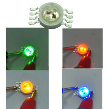 10pcs High power 8W RGB with Amber stage Lighting Parts RGBA LED Beads Chip Lamp