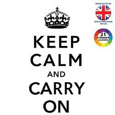 Keep Calm & Carry On WW2 Motto Vinyl graphic sticker