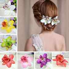 Pretty Wedding Bridal Flower Orchid Hair Clip Hairpin Barrette Hair Accessories
