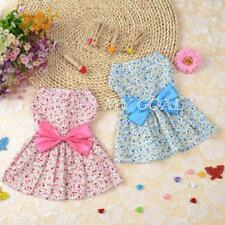 Pet Dog Dress Skirt Cat Bow Princess Clothes Apparel Female Costume You PICK