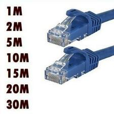 RJ45 CAT5 CAT5E CAT6 Ethernet Network LAN Cable Cord Lead Flat UTP Patch 1-20M