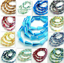 10pcs Faceted crystal glass Teardrop Loose Spacer beads 16*8mm 60 color
