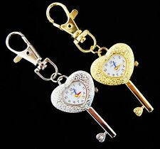 1 pcs key Hear Style Key Ring boy girl lady pocket Quartz  Watch UKK17