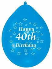 40th Happy Birthday Party Balloons Helium Air Latex Colour CHOOSE YOUR QUANTITY