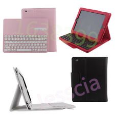 Remove Wireless Bluetooth Keyboard Leather Folio Cover Case Stand For iPad 2 3 4