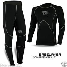 New Thermal Motorcycle Compresson Base Layer Motorbike Under Suit Shirt trouser