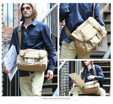 Vintage mens messenger shoulder canvas bag School Hiking travel mens bag
