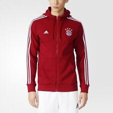 Men's Adidas FC Bayern Munchen Munich Hooded Full Zip Jacket,AC6719,Craft Red