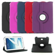 """360 Rotate Folio Leather Case Cover Skin Stand For Samsung Galaxy Note 8"""" N5100"""