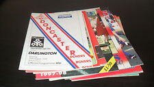 Doncaster Rovers 9nr Home Programmes 1980's, 1990's and 2000's