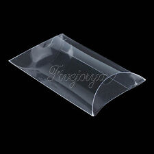 PVC Clear Pillow Shape Wedding Favor Gift Box Party Candy Boxes 9x6.5x2.5cm