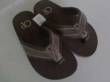 NEW Boy Toddler *12* or *13* OP Faux Leather Flip Flops Thong Sandals Brown