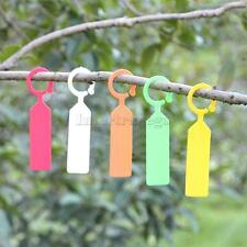 100pcs PP Labels Greenhouse Gardening Plant Flower Hanging Ring Tag 5 Colors