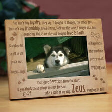 Personalized Pet Picture Frame Loyal Dog Engraved Wood Photo Frame in 3 Sizes