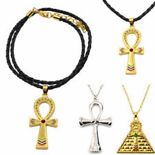 Ankh Cross Egyptian Vintage Symbol Of Life Pendant Necklace Gold Silver CHI