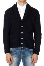 FENDI Man Blue Knitted Cotton Cardigan Made in Italy New with Tags and Original